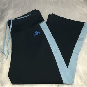 Adidas Light Blue Black Capri Leggings Medium